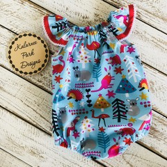 Christmas Playsuit Size 00 Custom Order for Jennette
