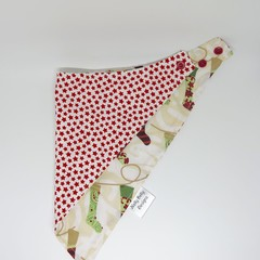 Christmas Bandana Dribble Bib - Reversible & Water Resistant