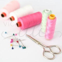 Styled Stock Photo Sewing Supplies, Sewing Stock Photo, Sewing Cotton Photo / Se