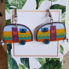 Caravan earrings - Australiana