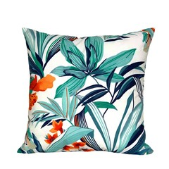Blue Outdoor Pillow. Summer Decor.