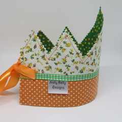 "Bulk Buy Fabric Crowns   10 x Princess   4 x Prince Party Favours"" FREE POSTAGE"""
