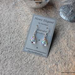 "Crystal Swarovski ""bells"", Sterling Silver, earring"