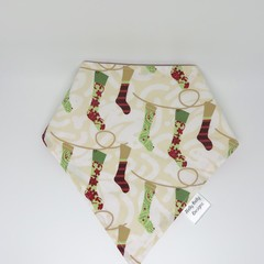 Christmas  Bib Bandana Dribble- Reversible & Water Resistant