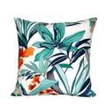 Blue Outdoor Pillow. Summer Decor.