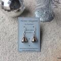 """Rose Gold Crystal Swarovski """"bells"""", Sterling Silver, earring"""