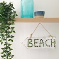 Sea glass beach sign