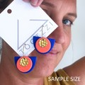 TEXTURE Hoops (Cobalt Blue + Neon Pink) Interchangable Statement Dangles