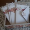 """""""Patchwork"""" box with notecards"""