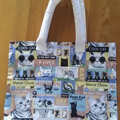 Shopping bag, reusable, cat themed