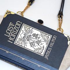 Lost Horizon Novel Bag - James Hilton - Upcycled book - Bag made from a book