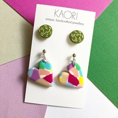 2 pack of Polymer clay stud earrings