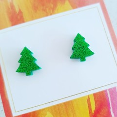 Acrylic Christmas Tree Studs