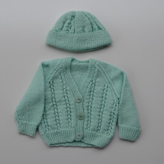 3 - 6 Months Baby Jacket matching Hat