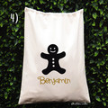 Christmas Gift Sack Special Delivery Reindeer Gingerbread man  Xmas Wreath