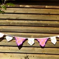 Vintage Hanky Bunting - Wedding Party Engagement  *FREE POSTAGE*