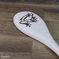 Wood Burnt Frog Wooden Spoon