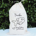 Pet Santa Sack Puppy' Kitty Dog Cat Personalised Christmas Bag Santa Paws Pet