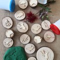 Timber Playdough Stamp Set Aussie