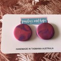 Pink & purple swirl statement stud  - CLEARANCE 4 for $20