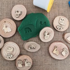 Timber Playdough Stampers - Animal Set