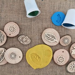 Timber Playdough Stampers - Springtime