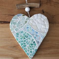 Wooden Coastal Mosaiced Wall Hanging ....