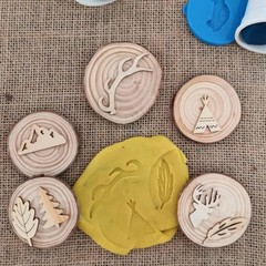 Timber Playdough Stampers - Wild West