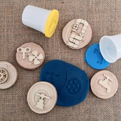 Timber Playdough Stampers - Lil Tradie Set
