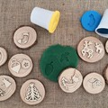 Timber Playdough Stampers - Christmas Set