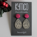 Dangle earrings - shades of pink