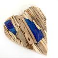 Driftwood heart with artglasswall hanging