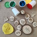 Timber Playdough Stampers - Princess set