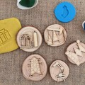 Timber Playdough Stamp Set -  Construction