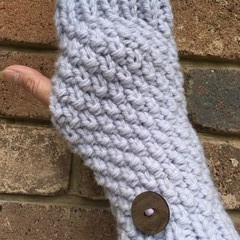 Purple lilac fingerless gloves handwarmers mittens