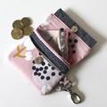 Pink floral mini wallet