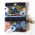 Floral blue mini wallet