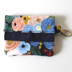 Floral blue mini wallet