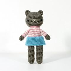 stuffed plush toy, teddy bear, amigurumi crochet doll .. MEG