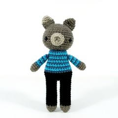 toy dog, amigurumi dog, crochet toy doll .. SIMON