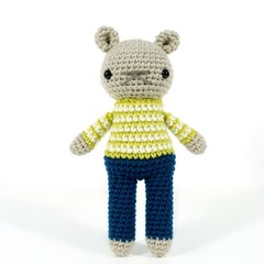 teddy bear toy, amigurumi bear, crochet doll .. ALAN