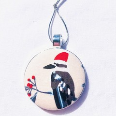 Australiana Christmas Ornament - Kookaburra (cream background)