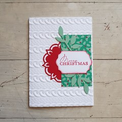 Merry Christmas Card – Red Ornament with Holly