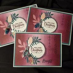 May Your Christmas Be Bright – Christmas Card Trio Plum