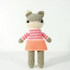 stuffed plush toy, amigurumi kitty cat,  crochet doll .. MARTINA