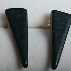 GEMSTONE EARRINGS - Black Obsidian