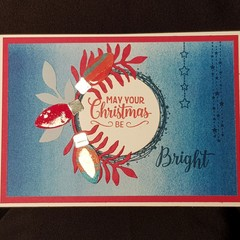 May Your Christmas Be Bright Card – Blue