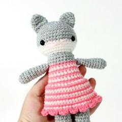 crochet amigurumi, stuffed plush toy, cat kitty amigurumi .. ROBIN