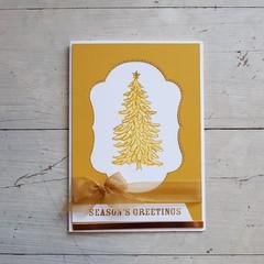 Seasons Greetings Card – Golden Tree