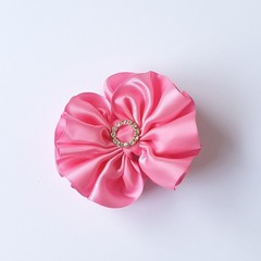 Rouched Bow Hair Clip